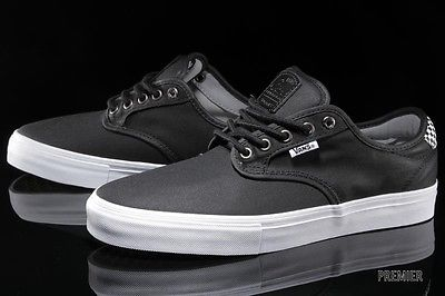 Vans Chima Ferguson Pro Waxed Twill Black/Checkers Men's Skate Shoes Size 12