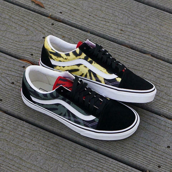 Vans Old Skool Tie Dye Multi/Black Men's Classic Skate Shoes Size 8