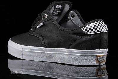 Vans Chima Ferguson Pro Waxed Twill Black/Checkers Men's Skate Shoes Size 10