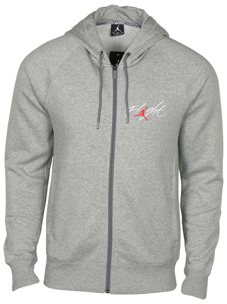 Nike Air Jordan Flight Men's Gray Full Zip Hoodie Jacket Size M