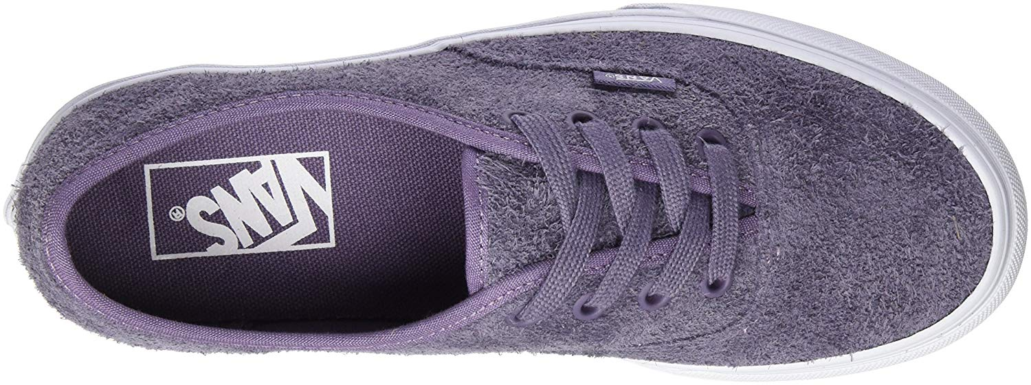 Vans Authentic Hairy Suede Purple Sage Men's Classic Skate Shoes Size 10.5