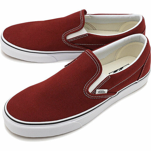 Vans Classic Slip On Madder Brown/True White Men's Classic Skate Shoes Size 11