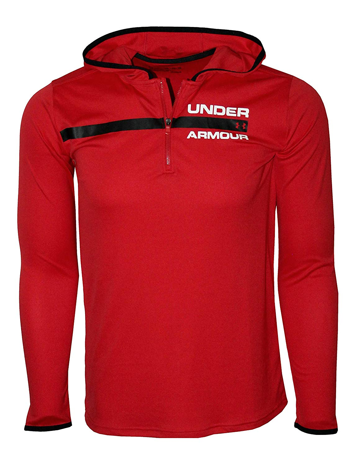 Under Armour Big Boys 8-18 Athletic Zip Hooded Light Shirt Hoodie Size M