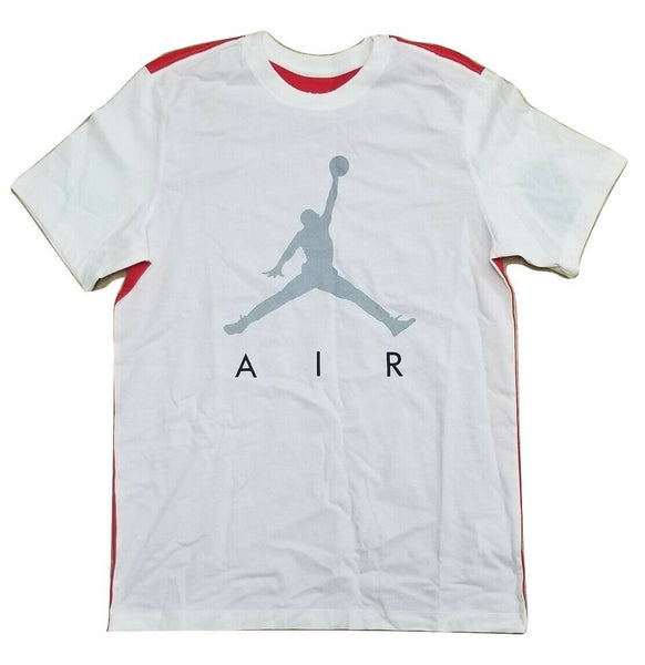 Nike Air Jordan Jumpman White/Red Men's Basketball T Shirt Size L