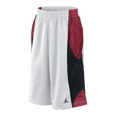 Nike Air Jordan Durasheen White/Red/Black Men's Basketball Shorts Size M