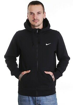 Nike Club Swoosh Men's Black/White Hoodie Size XL
