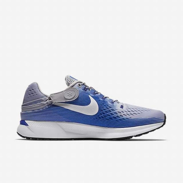 Nike Air Zoom Pegasus 34 Flyease Wolf Grey/Blue Running Shoes Size 11