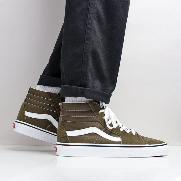 Vans SK8 HI PRO Beech/True White Men's Classic Skate Shoes Size 11