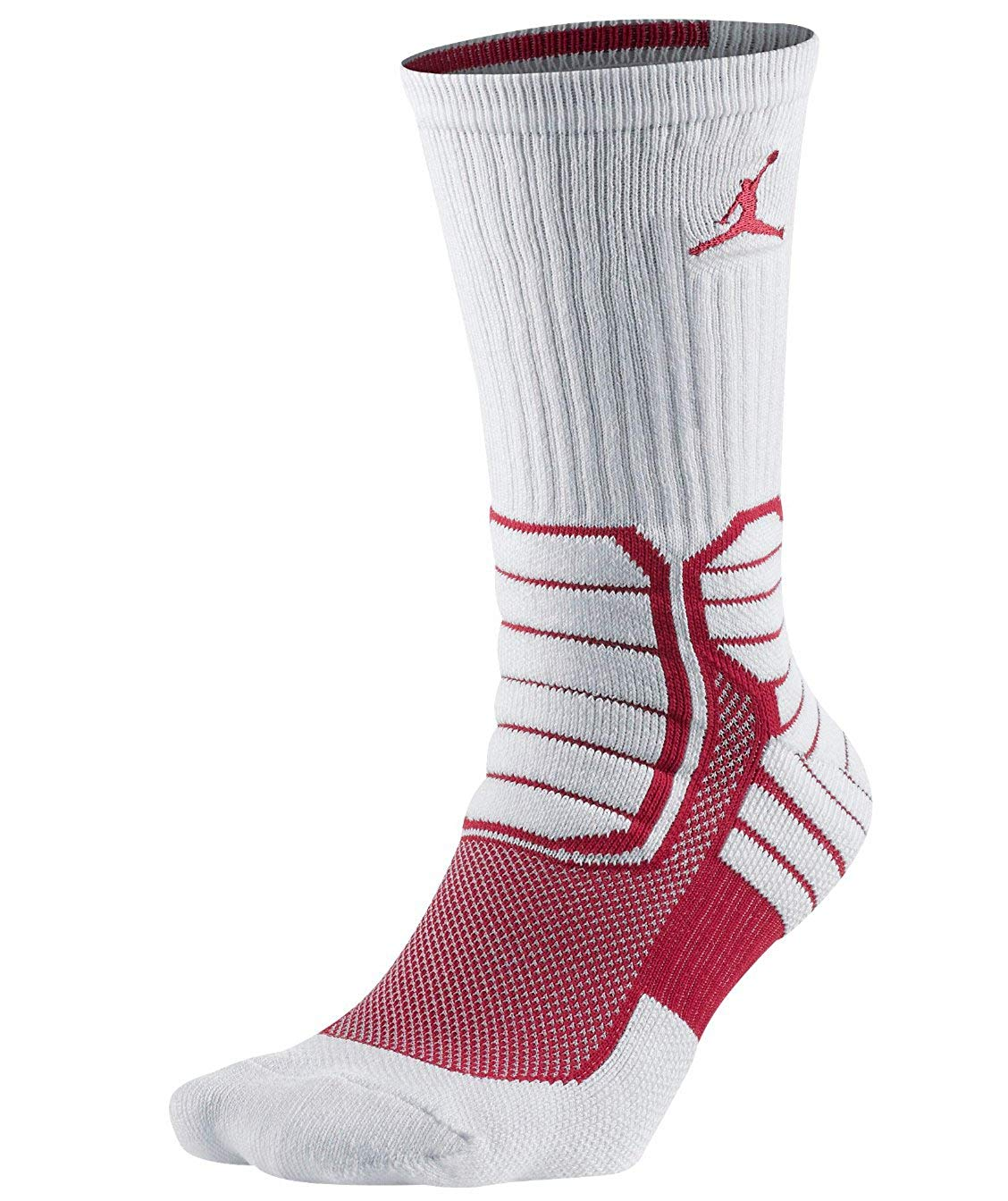 Nike Jordan Jumpman Advance White Men's Crew Basketball Socks Size L(8-12)