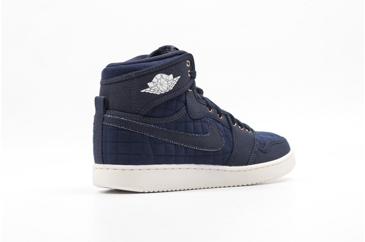 Nike Air Jordan 1 KO High OG Obsidian/White Men's Basketball Shoes Size 12