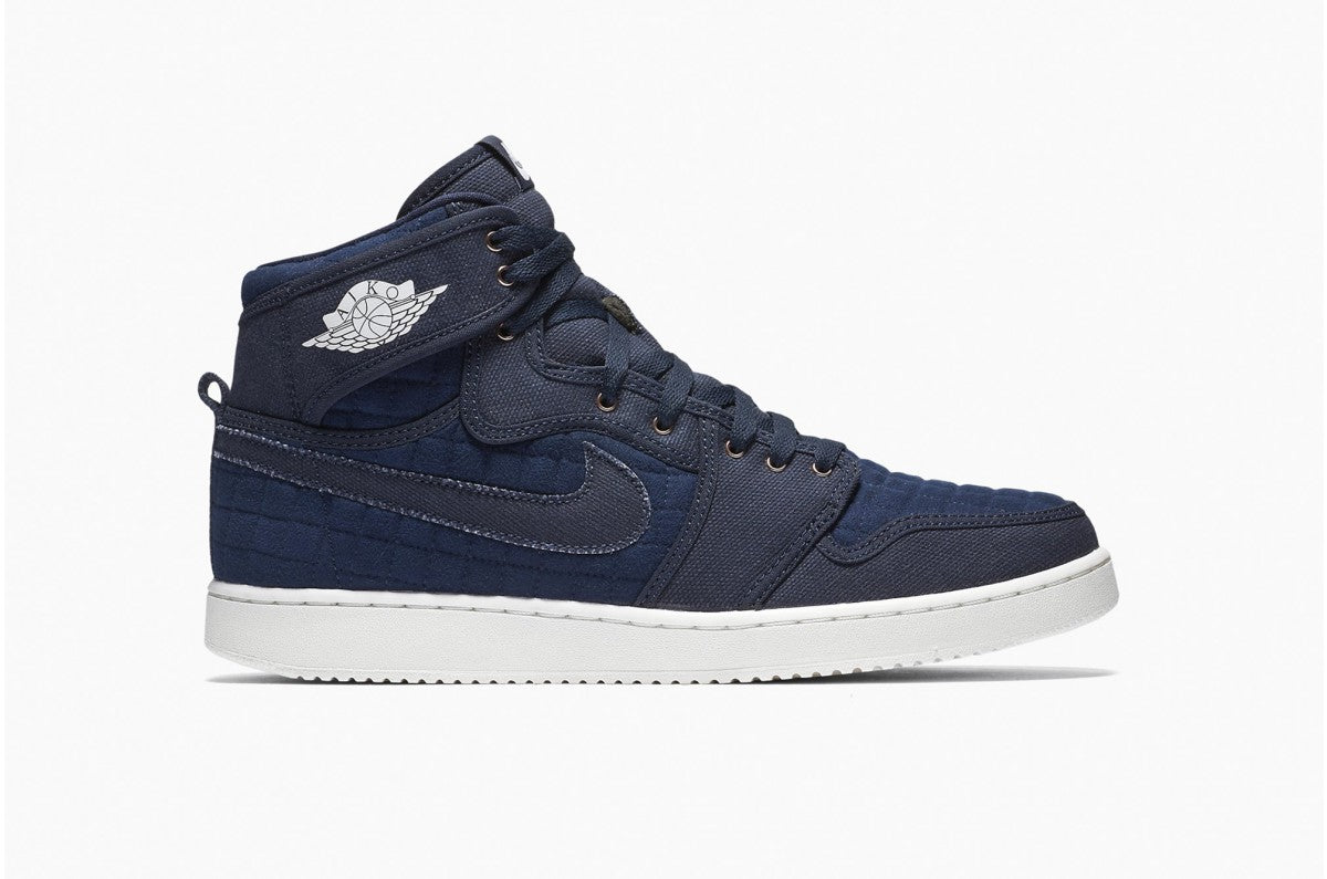 Nike Air Jordan 1 KO High OG Obsidian/White Men's Basketball Shoes Size 10