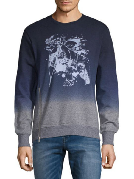 PRPS Goods & Co. Heather Grey/Blue Pullover Sweater Size M