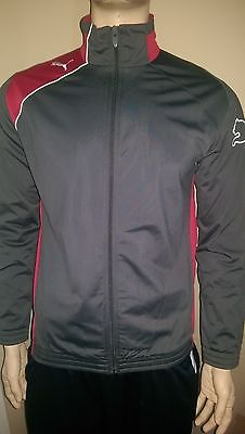 Puma United Poly Grey Men's Track Jacket Size S