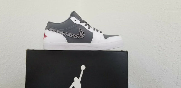 Nike Air Jordan V.2 Leather Cool Grey/White Men's Basketball Shoes Size 10.5