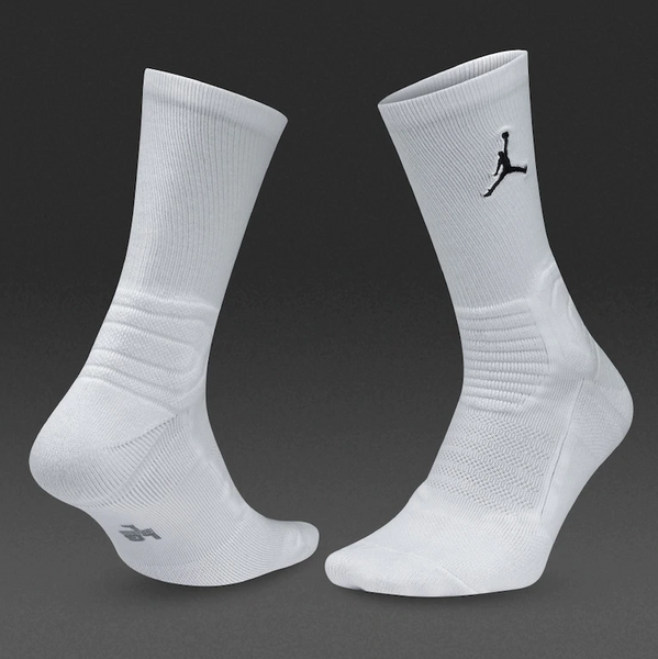Nike Jordan Ultimate Flight Men's Crew White/Black Socks Size Medium (6-8)