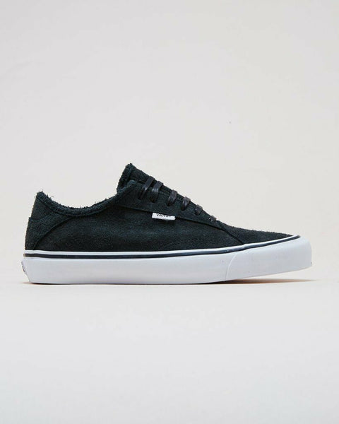 Vans DINAMO NI Hairy Suede Black/True White Men's Shoes 8.5