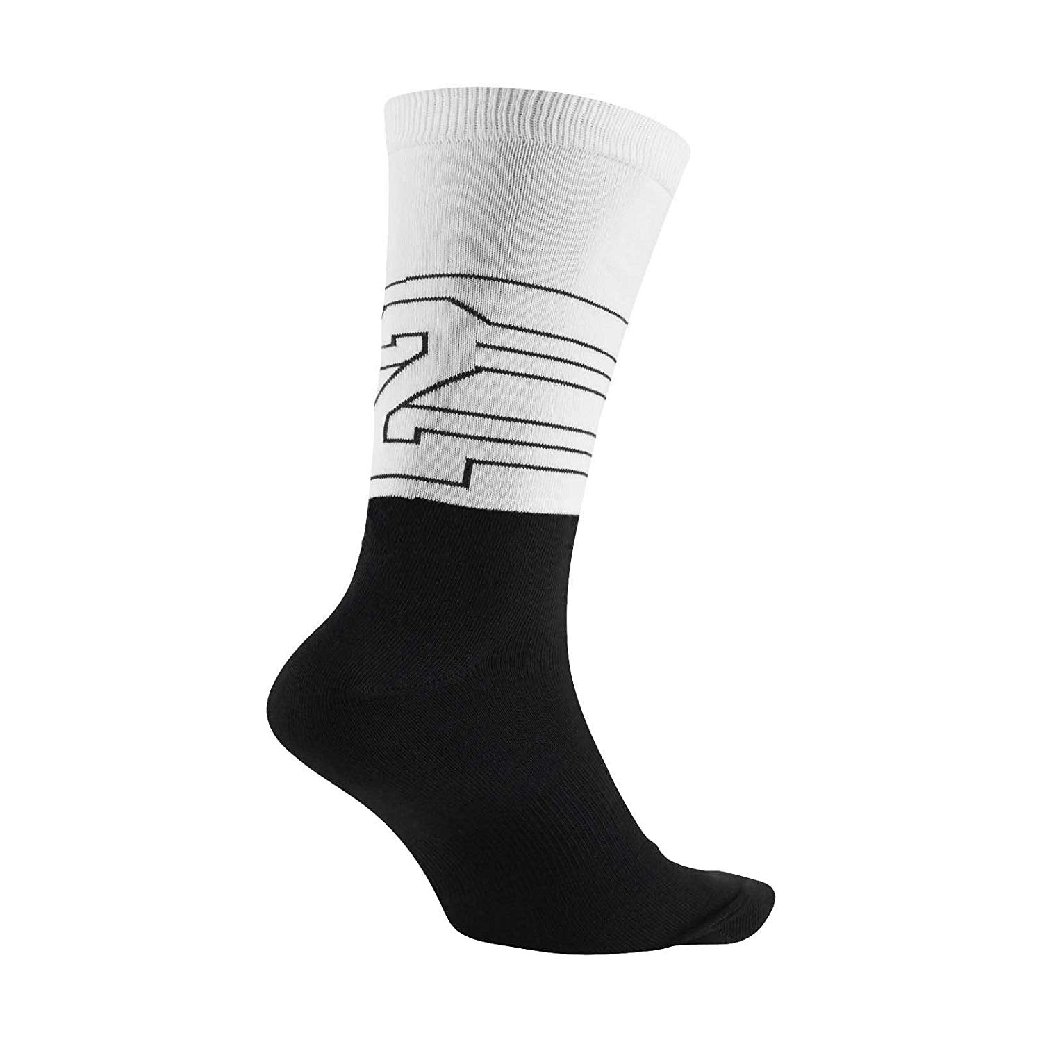 Nike Jordan Retro 13 Black/White Men's Crew Socks Size Large (8-12_