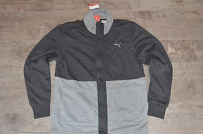 Puma LS Jacket Dark Grey Heather Men's Track Jacket Size S