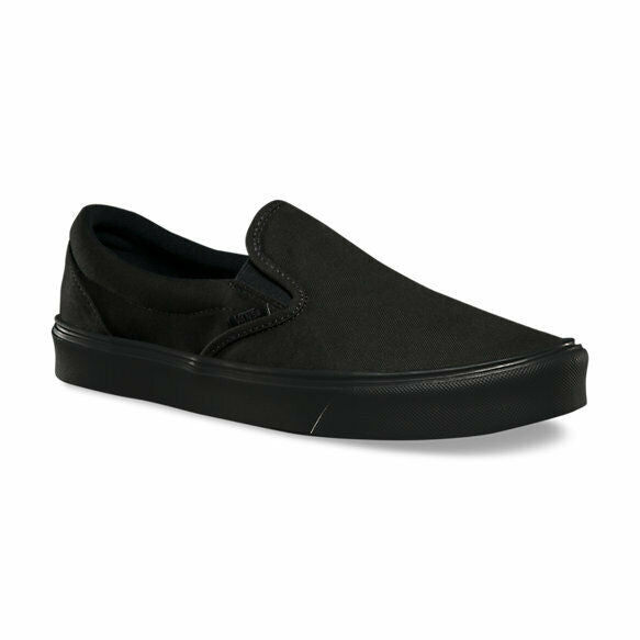 Vans Slip On Lite Canvas Black/Black Men's Classic Skate Shoes Size 9