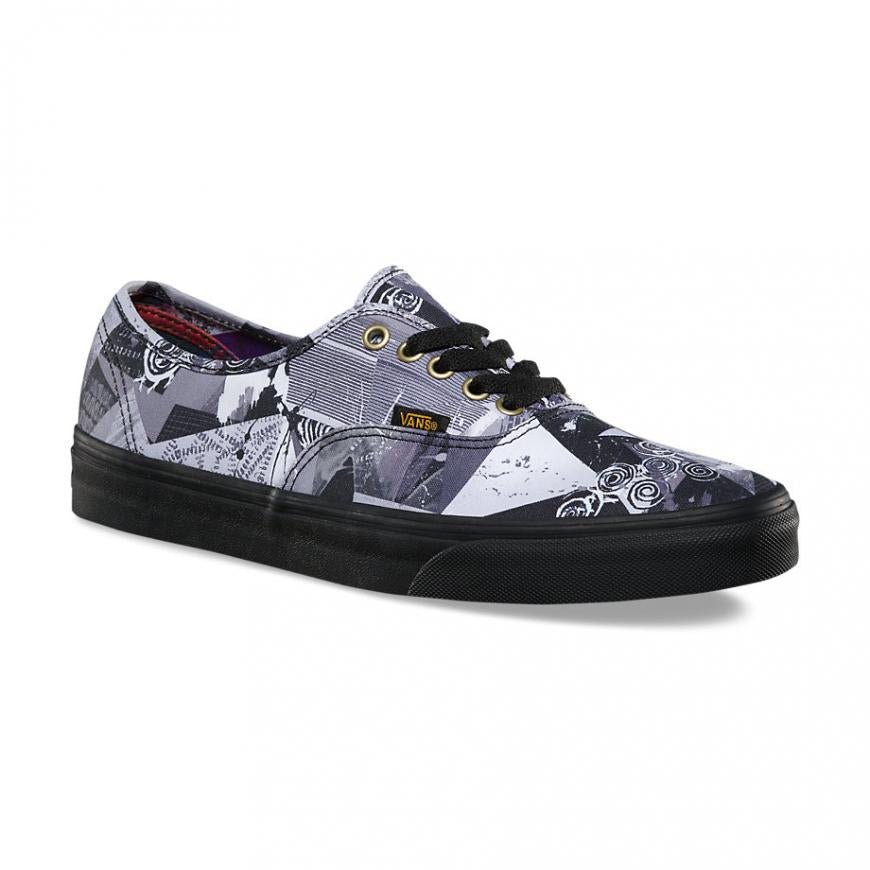 Vans Authentic Abstract Multi/Black Women's Classic Skate Shoes Size 8