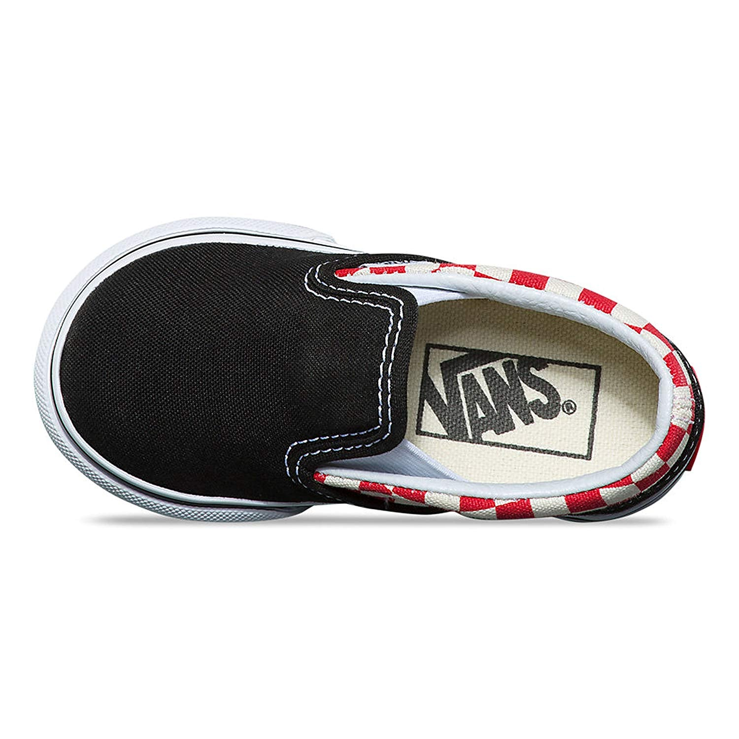 Vans Classic Slip On Checkerboard Black/Red Skate Shoes 9.5 Toddler
