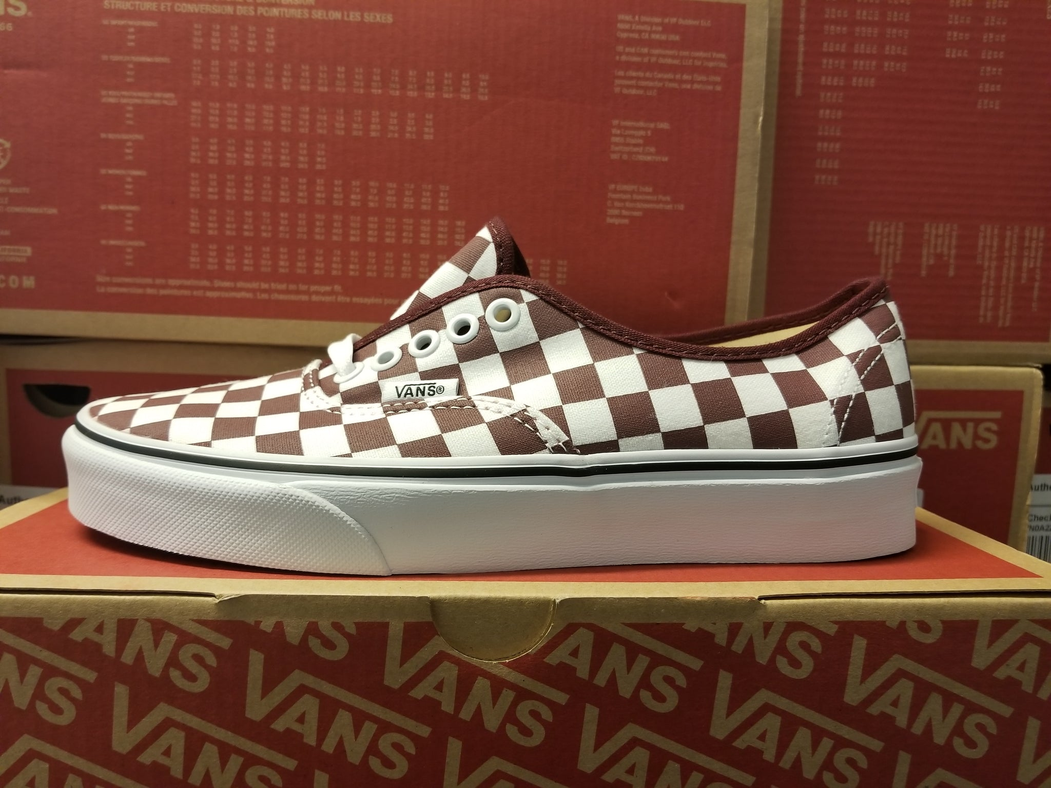 Vans Authentic Checkerboard Port Royale/White Women's Skate Shoes Size 7