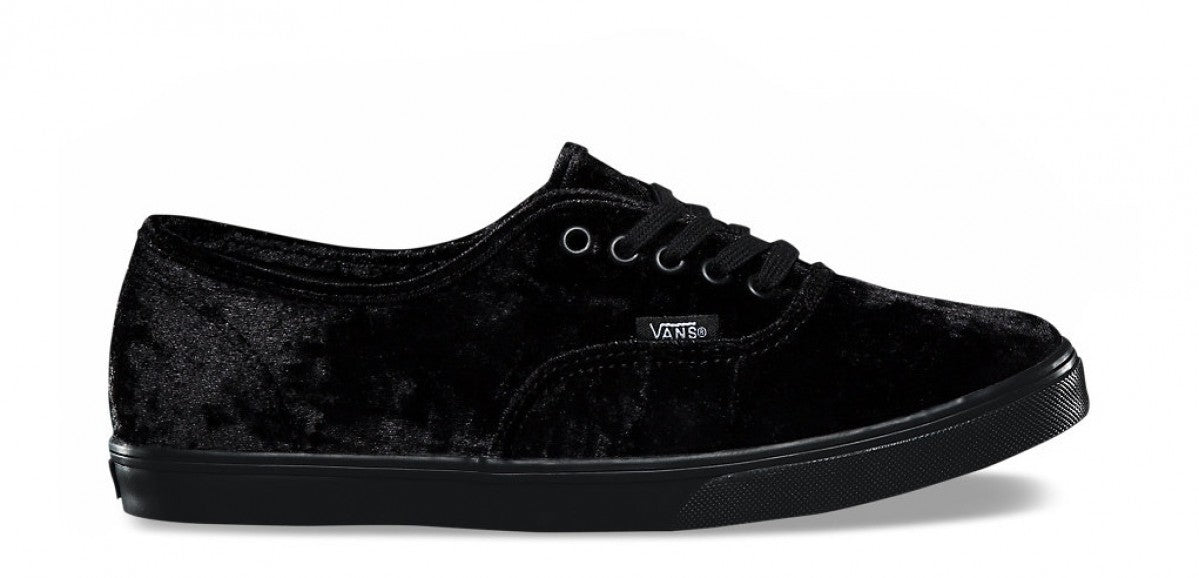 Vans Authentic Lo Pro Velvet Black Women's Skate Shoes Size 10