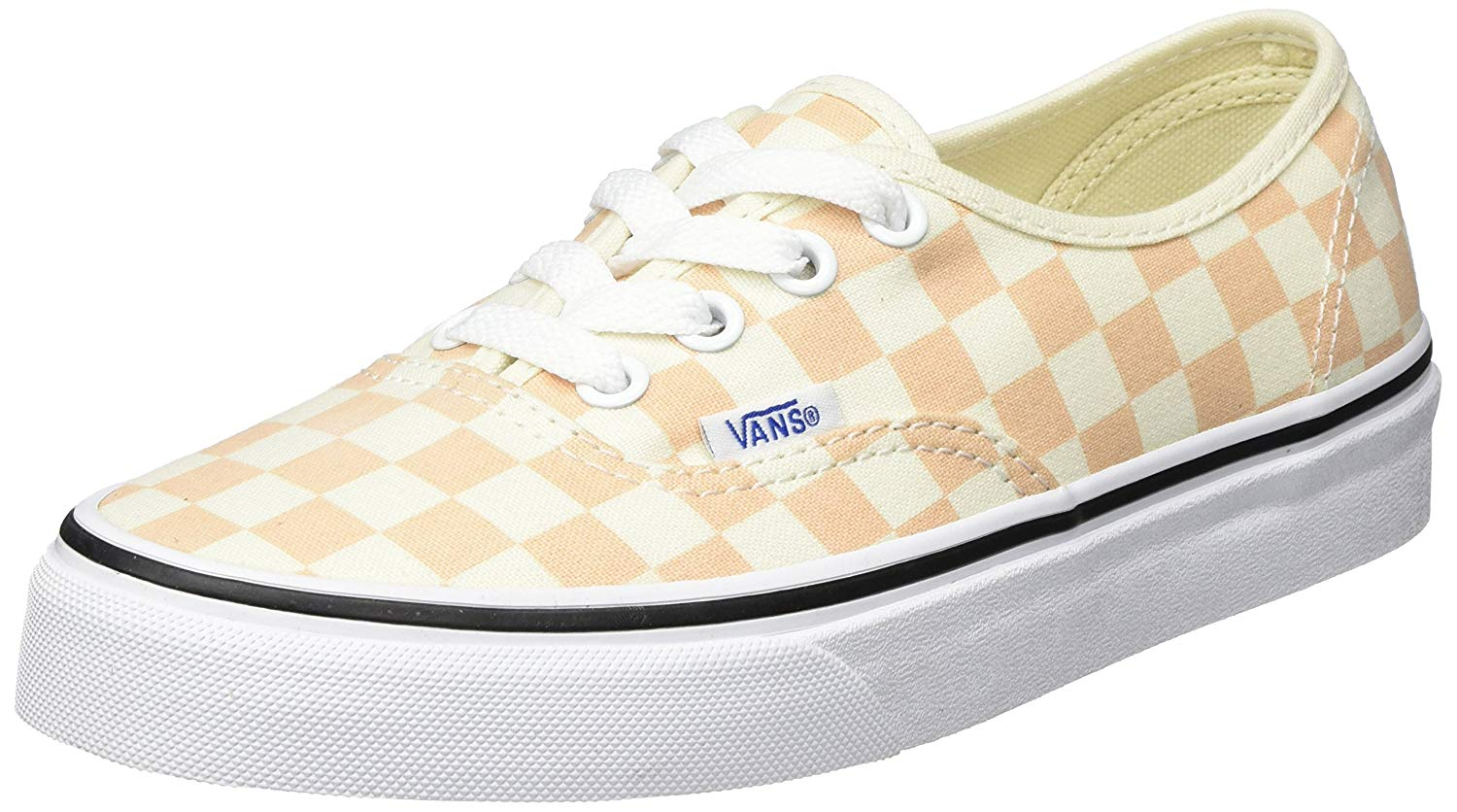 Vans Authentic Checkerboard Apricot Ice Men's Skate Shoes Size 9