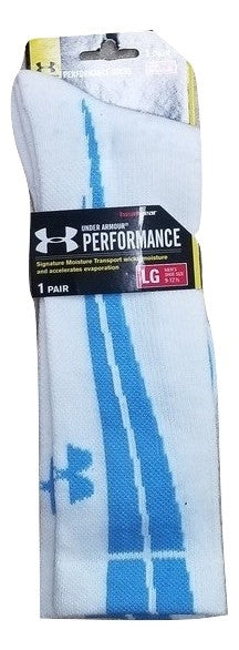 Under Armour Men's Performance White Crew Sock Large