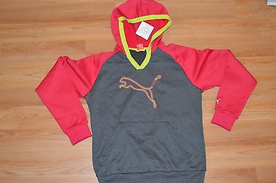 Women's Puma Poly PO Colorblock Fleece Dark Gray/Virtual Pink Jacket Size M