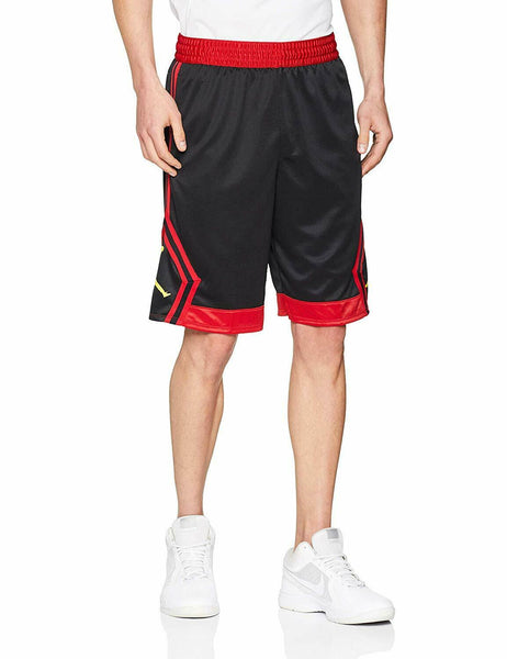 Nike Jordan Rise Diamond Basketball Shorts Black/Red Size S