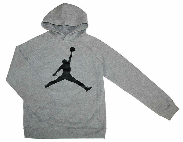 Nike Jordan Jumpman Youth Boys Athletic Sweatshirt Hoodie Pullover Gray Size M