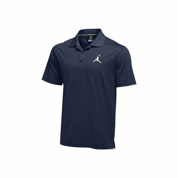 Nike Court Dry Jordan Navy Blue Polo Shirt Size XL