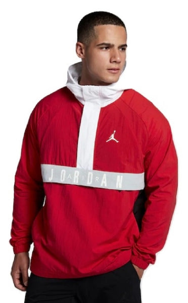 Nike Air Jordan Wings Anorak Red/Black/White Pullover Wind Jacket Size 2XL