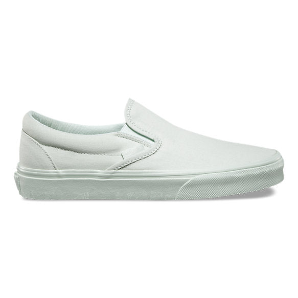 Vans Classic Slip On Mono Canvas Milky Green Men's Skate Shoes Size 8