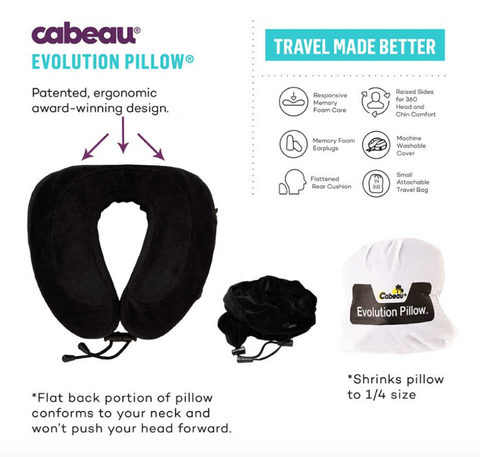 Cabaeu Evolution Pillow infographic