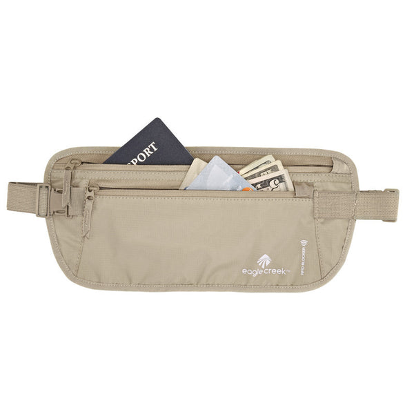 RFID Blocker Money Belt DLX Tan