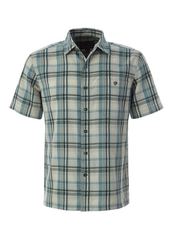 Royal Robbins Men's Mojave Pucker Dobby Plaid Short Sleeve Shirt