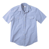 MWF SS BUSH SHIRT BLUE XL