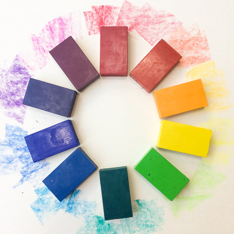 Rainbow Block Crayons