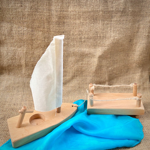Magic Wood Sailboat and Dock