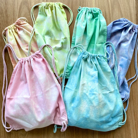 Hand-Dyed Drawstring (Backpack Style) Spare Clothes Bag