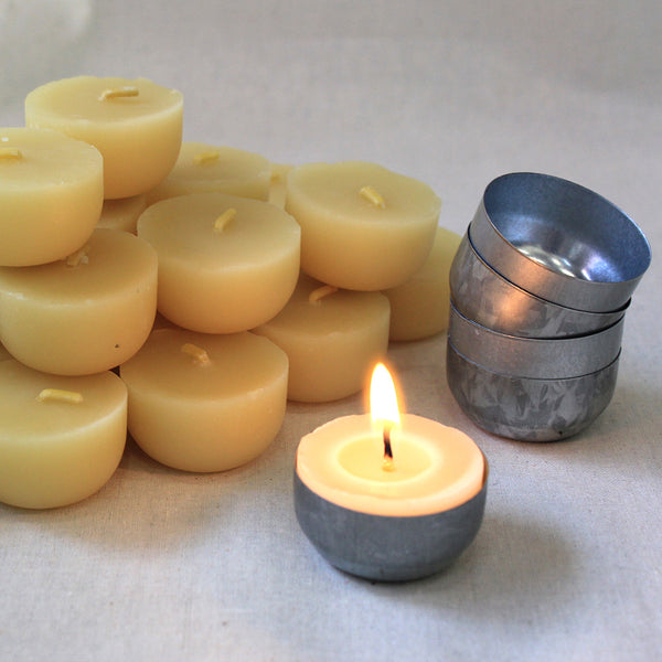 organic beeswax single tealight candle