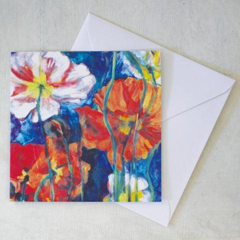 Card & Envelope - Poppies