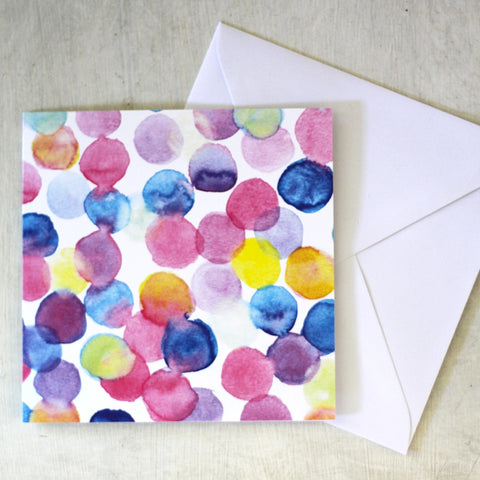 Dotty Greeting Card & Envelope