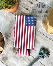 American Flag Slim Can Holder