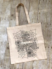 Be Joyful Coloring Tote Bag