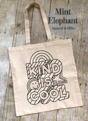 Kind is Cool Coloring Tote Bag