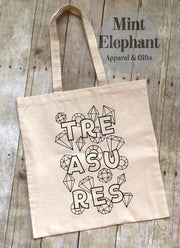 Treasures Coloring Tote Bag