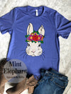 Floral Crown Easter Bunny tee